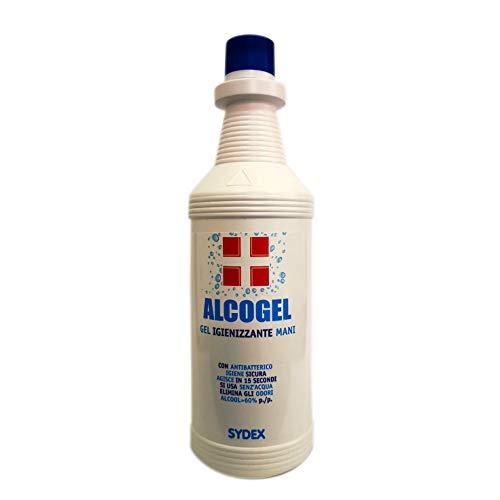 Gel Igienizzante Mani - Alcogel Sydex - Con antibatterico - flacone da 1 litro - Categoria cosmetica: Gel idroalcolico
