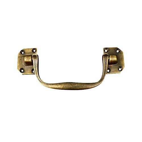 RVTYR Manejar Bronce Antiguo de latón Macizo Gota Tirador for Maleta de Cuero Paquete de 2 Piezas de Estilo Retro Tiradores Cocina (Color : Golden, Size : 148 * 29mm)