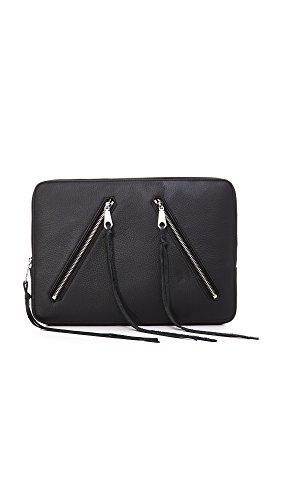 Rebecca Minkoff Moto Zip Sleeve Laptop Case, Black, One Size