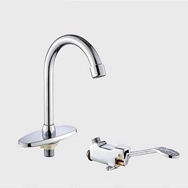 NewBorn Faucet Wasserhhne Warmes und Kaltes Wasser groe Qualitt der Messing Foot Switch Tap