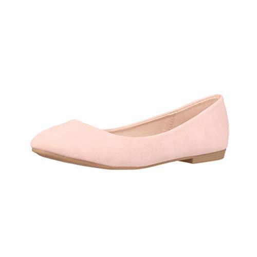Elara Damen Ballerina Bequeme Slip Ons Flach Chunkyrayan B3039H BL Pink 39