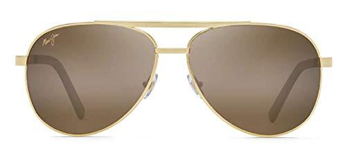 Maui Jim Seacliff - Gafas de sol deportivas, dorado (Dorado/Bronce (Gold/HCL Bronze Polarized)), Medium