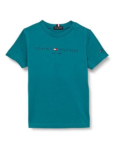 Tommy Hilfiger Essential Logo tee S/S Camiseta, Breakaway Teal, 14 años para...