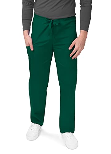 Sivvan Pantalones médicos Unisex de Pierna cónica - S8202 - Hunter Green - XS