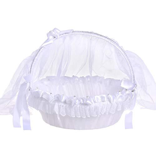 Janly Clearance - Cesta de Seda para decoración del hogar, diseño romántico con Lazo, Infantil Hombre Mujer Bebé-Niños Unisex Adulto Infantil, C, L