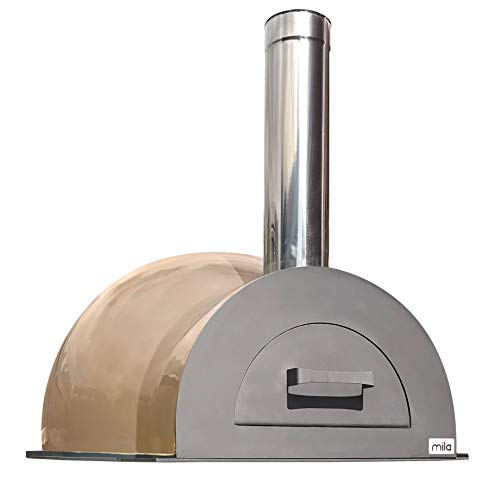 Easy to Build Mila 60 DIY Outdoor Wood Fired Pizza Oven Kit with a Copper Coloured Composite Shell