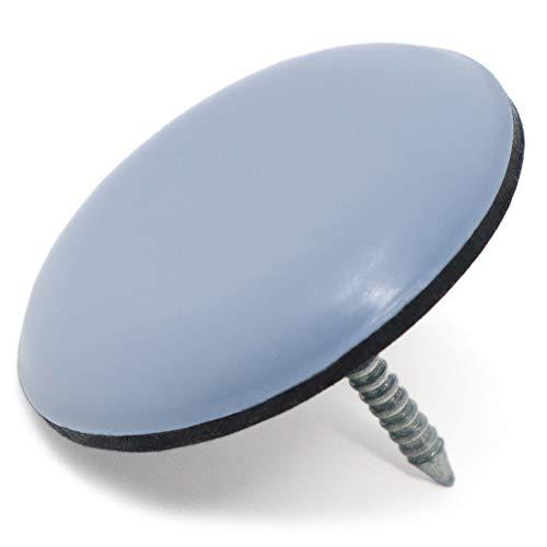 rond //Ø 22/mm/ 4/x Chaise jambe Capuchons avec feutre/ /Transparent de feutre patins pour meubles en acier tubulaire Chaises