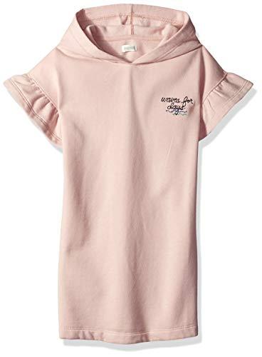 Gymboree Girls' Big Ruffle Sleeve Knit Dress, Pink Blush, L