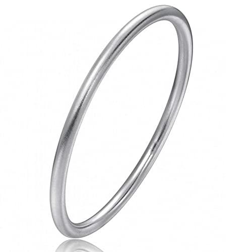 J.Memi's Pulsera de Plata de Ley 999 Mujer, Exquisito Cuff Hecho A Mano Bracelet Simples Joyas para Mujeres Niñas Cumpleaños Regalos,Inner Diameter: 54mm