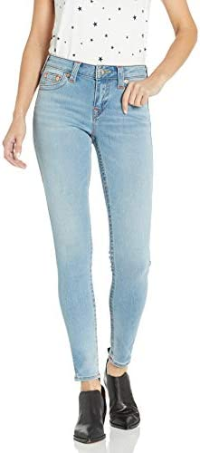True Religion Women s Jennie Mid Rise Curvy Fit Skinny Ankle Jean Sky Light 26 product image