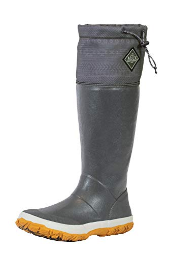 Muck Boot The Original Company, Forager Tall, Size 10, Dark Gray/Print