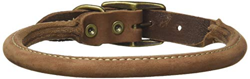 Coastal Pet Products Circle T Rustic Leather Round Dog Collar, 3/4