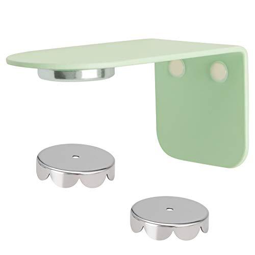 bremermann Magnet-Seifenhalter PUREZZA - frei hängende Seife durch Magnet - Kleben oder Bohren (hellgrün)