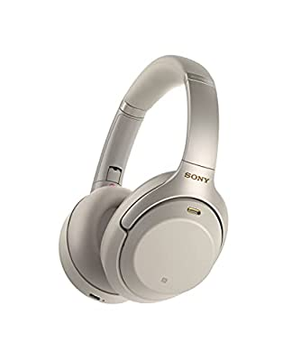 Sony WH-1000XM3 Noise Cancelling Wireless Headphones with Mic, 30 Hours Battery Life, Quick Charge, Gesture Control, Ambient Sound Mode, with Alexa Built-in – Silver by Sony