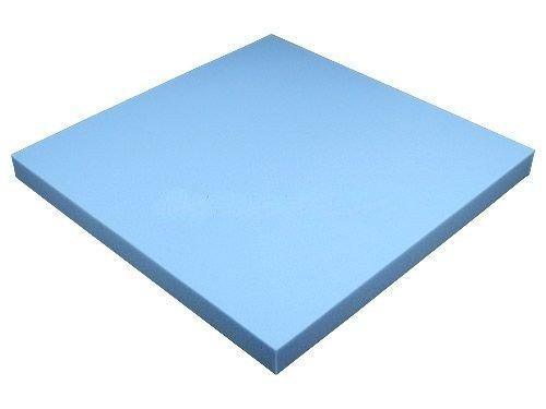 Heiro Schaumstoffplatte Blau 50x50cm Schaumstoff Kissen Schaumstoffpolster - extra formstabil - 4cm dick