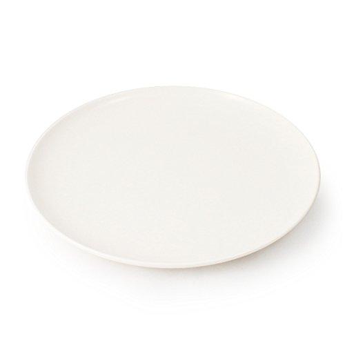 CARTAFFINI – Plat Coupe en mélamine, ø 24 cm – Blanc Ivoire