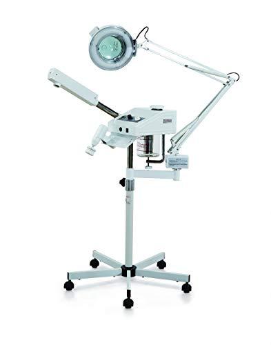 Ozonverdamper 3-in-1 professionele gezichtsstoommachine brossage gezichtschil lamp vergrootglas apparatuur