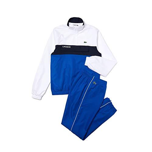 Lacoste Sport WH9540 conjunto de chándal hom, Blanc/Lazuli-Marine, 3XL para Hombre