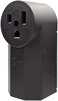 AIDA 50 Amp 250 Volt 6-50R 2-Pole 3-Wire Grounding Surface Mount Power Dryer Receptacle Outlet Back Wire AL/CU UL Listed 030686