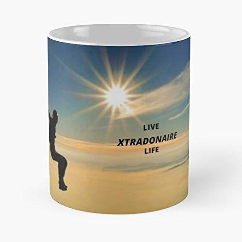 Live Courage Experience Happiness Life Curious Adventure Unafraid I FSGcreative- Mug holds hand made from White marble ceramic printed trendy design