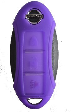 Silicone Key Fob Case Cover Fits Nissan 3 Button Remote Key Fob Light Purple
