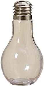 Arredamento, decorazione - vaso in vetro a forma di lampadina - stile: shabby chic, moderno - materiale: vetro - dim. H ca 17 cm