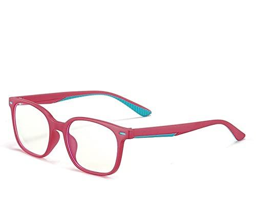 Plástico Titanio Cuadrado Tr Gafas de bloqueo de luz anti-azul para niños Gafas de computadora para niños Rojo