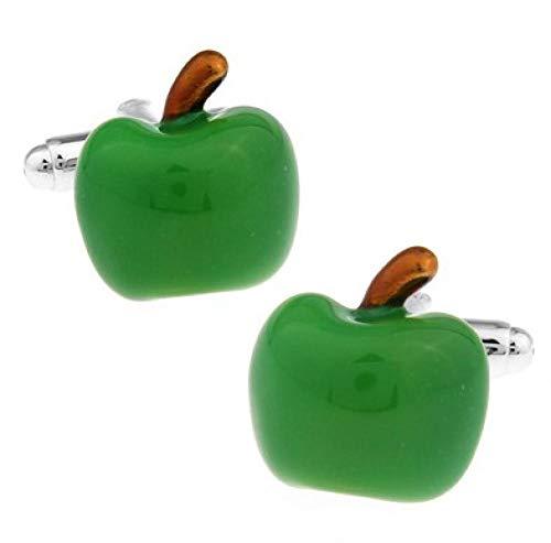 youjiu Einzelhandel Herren Geschenke Manschettenknöpfe FashionMaterial Green Apple Design Cufflinks