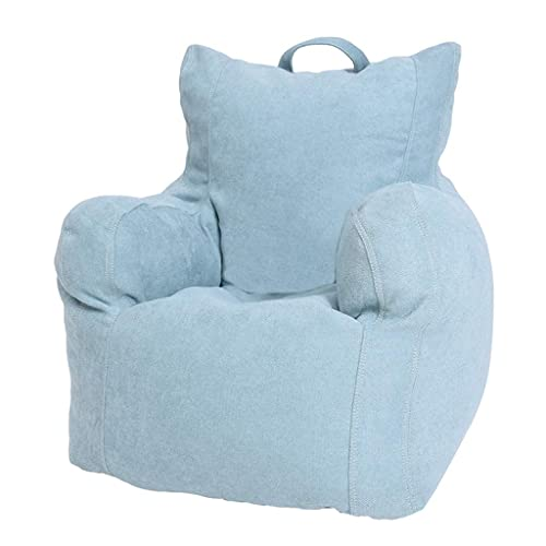 LuoMei Lazy Armchair Washable Child Floor Sofa Lounger Chair Used for Living Room Bedroom Free Send Sticky BrushBlue