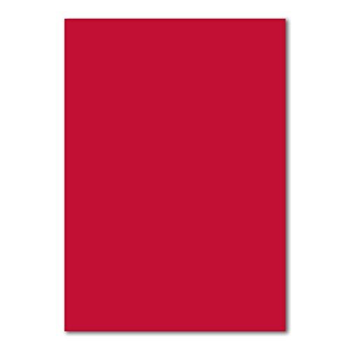 50 DIN A4 Papierbogen Planobogen -Rosenrot - 160 g/m² - 21 x 29,7 cm - Bastelbogen Ton-Papier Fotokarton Bastel-Papier Ton-Karton - FarbenFroh®