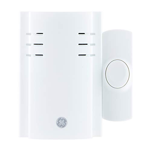 GE Wireless Doorbell Kit, 8 Chime Melodies, 1 Receiver, 1 Push Button, Plug-In, 150 Feet Range, White, 19299