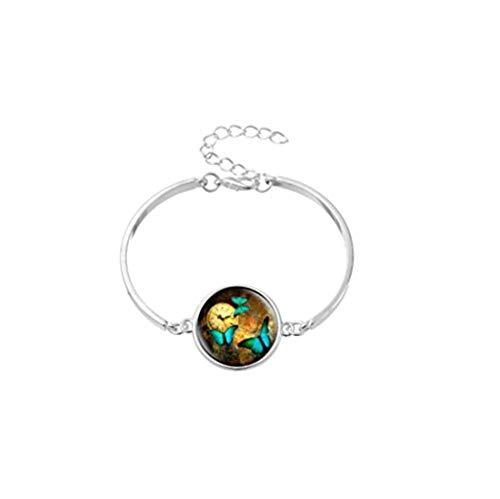 Youkeshan Pulsera de mariposa, joyería de mariposa, regalos de mariposa, regalo de boda de mariposa.