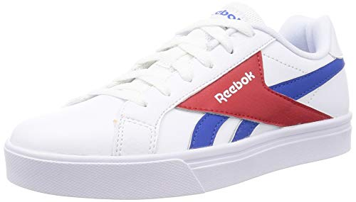 Reebok Royal COMPLETE3LOW, Zapatillas de Tenis Unisex Adulto, Blanco/VECBLU/VECRED, 42 EU