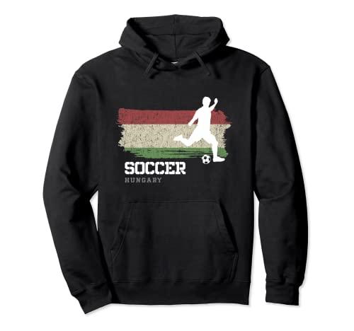 Fútbol Hungría Bandera Equipo de fútbol Jugador de fútbol Sudadera con Capucha