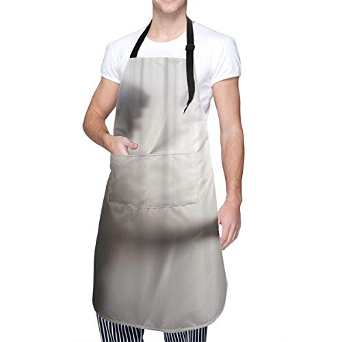 COFEIYISI Adjustable Kitchen Apron with pockets Horror Man Killer With Knife In Her Hand Behind Screen Blurry Shadow Stabbing Abstract Abuse Afraid Arm Home Kitchen Cooking Baking Gardening Apron