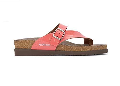 Mephisto , Damen Zehentrenner, Pink - Coral (Vernis 1121) - Größe: 38 EU