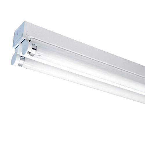 10 lámparas LED de 150 cm con 2 tubos LED de 24 W, 6000 K.