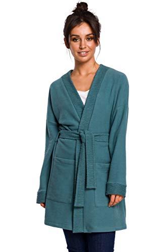 Kimono Style Blazer in Turkoois