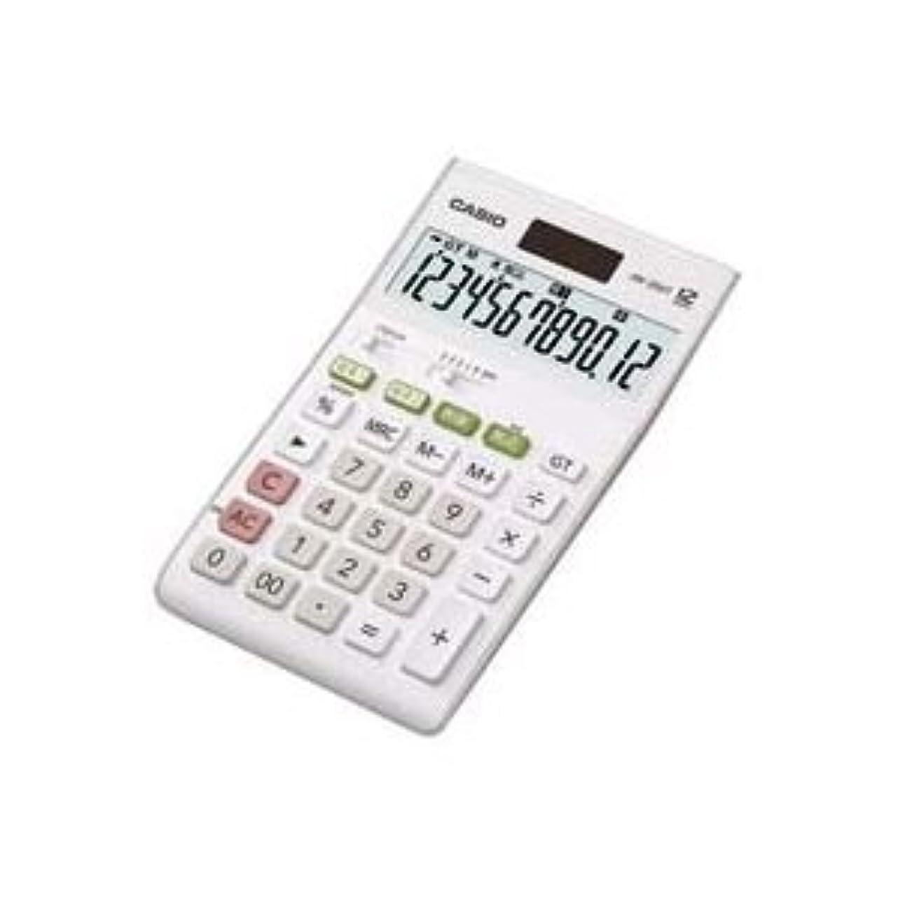 長くするゴシップデッキ(業務用2セット)カシオ CASIO W税率電卓ジャストサイズ12桁 JW-200T-N