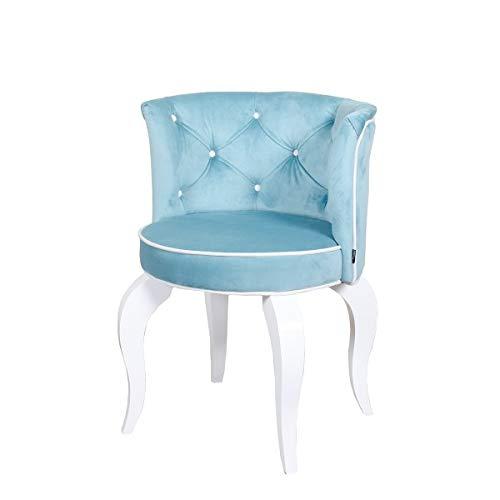 Petro Design Stuhl Luna Style Candy Samt Esszimmer Polsterstuhl Barock Schminktisch Schreibtisch Lounge Chesterfield