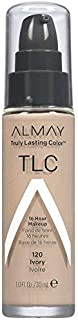 Almay TLC Truly Lasting Color 16 Hour Makeup, Ivory 01 [120] 1 oz (Pack of 2)