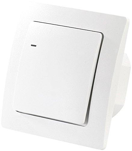 CASAcontrol Kabelloser Lichtschalter: Funk-Lichtschalter für innen und außen (Kabelloser Schalter)