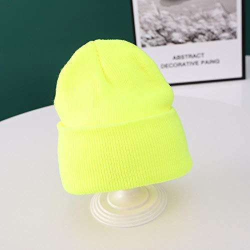 Sombrero de invierno Moda Invierno Gorros para bebés Gorro de punto Sombreros de punto Niños Niñas Niños Capó Gorros cálidos se aplican al viaje de pesca de esquí en motocicleta y more-bright_yellow