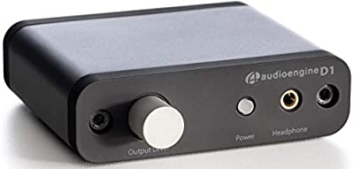 Audioengine D1 24-Bit DAC | Premium Desktop Digital to Analogue Converter & Headphone Amplifier with USB and Optical S/PDIF inputs | 3-Year Manufacturers Warranty by Audioengine