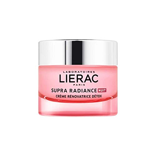 Lierac Supra Radiance Crema Detox Notte Antirughe con Acido Ialuronico, per Tutti i Tipi di Pelle, Formato da 50 ml