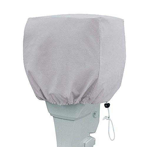 Primeshield Outboard Motor Cover, Waterproof Boat Motor Covers, 600D Heavy Duty Motor Hood Cover, Outboard Engine Cover Fits Motor Up to 150Hp