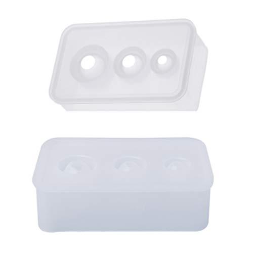 Silikonform für Epoxidharz, handgefertigt, 2 Stück