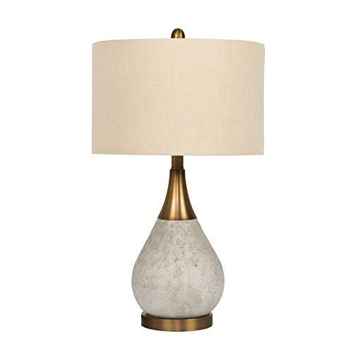 Litex Industries BL36LTX Litex Lamp, Natural Concrete & Antique Brass