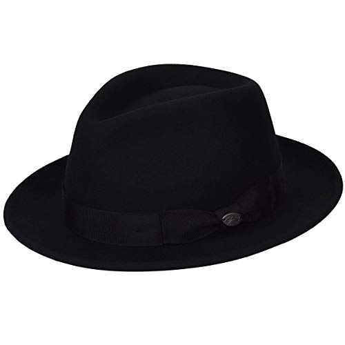 Bailey of Hollywood Men's MAGLOR Fedora Trilby HAT, Black, XL