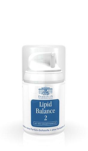 Dermaplan Lipid Balance 2   sensible & trockene Haut effektiv lindern   Haut-Creme bei belasteter & gereizter Haut   Neurodermitis   Psoriasis   feuchtigkeitsspendend   100% Vegan, 50 ml